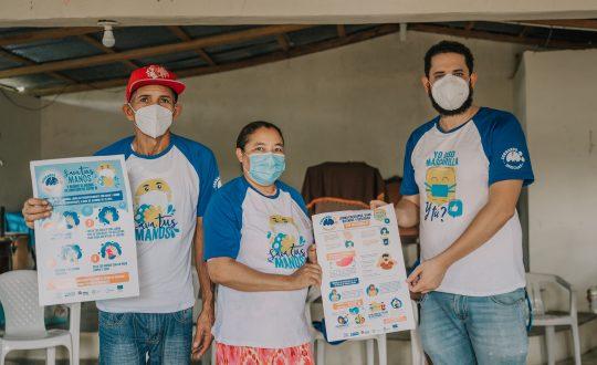Proyecto Cerrando Brechas presenta campaña sobre uso de mascarilla y lavado de manos en barrios de la provincia Santo Domingo