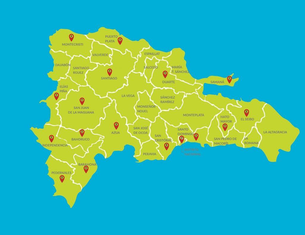 Dominican map republic alcarrizos santo domingo los °HERMOSA CASA