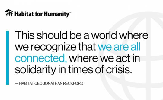 CEO de Hábitat: la pandemia del coronavirus nos llama a tener un mundo en donde nos cuidemos los unos a los otros